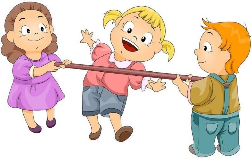 Illustration-von-Kindern-die-Limbo-tanzen