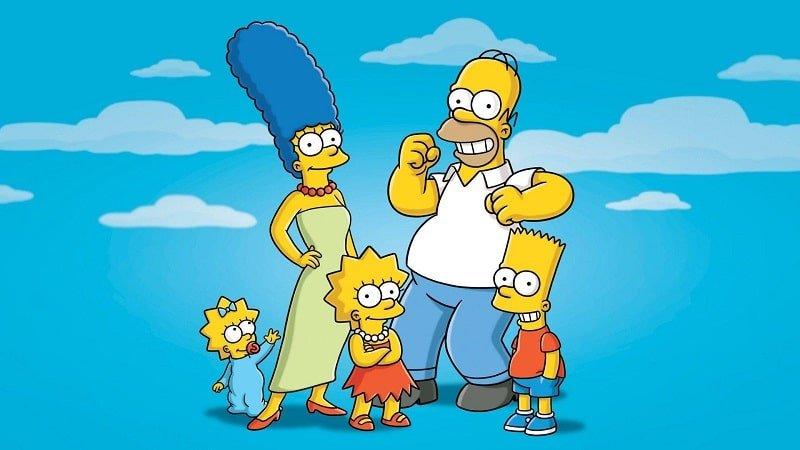 Die Simpsons Illustration der ganzen Familie