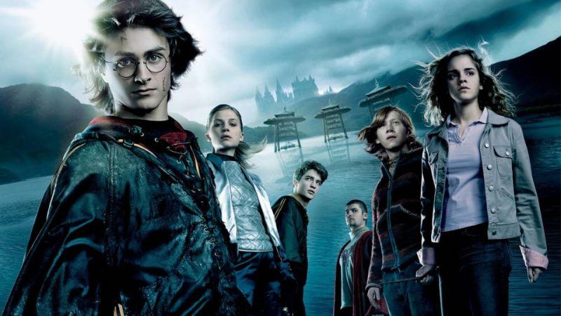 Harry Potter Poster mit Freunden neben ihm