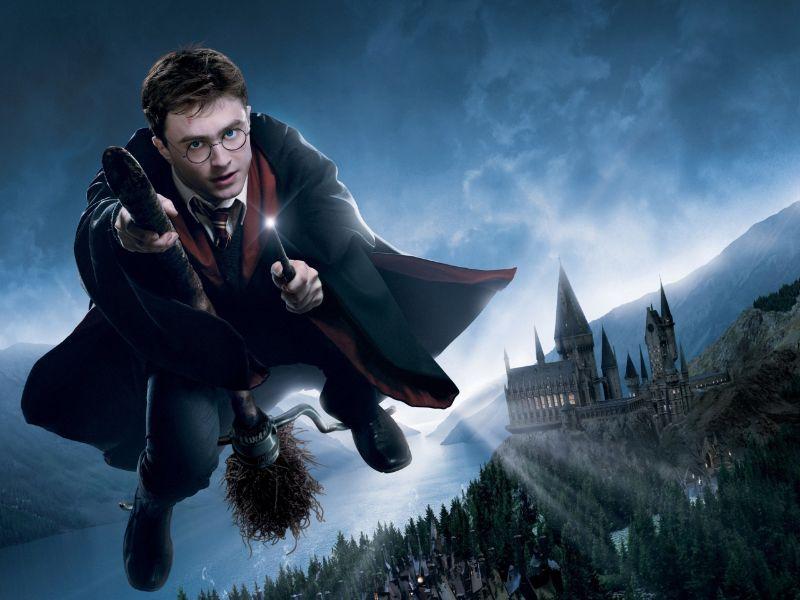 Harry Potter fliegt in der Luft