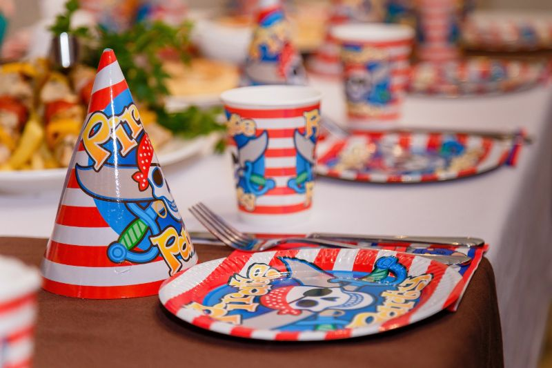 Piratenparty-Tischdekoration