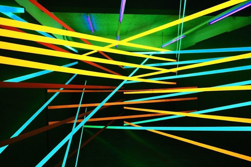 Neon-Hintergrundlinien