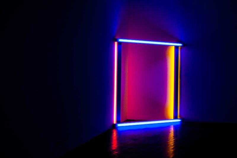 Neonlichtquadrat
