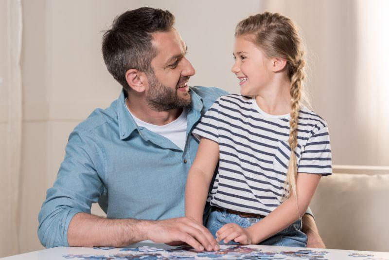 Tochter liebt ihren vater