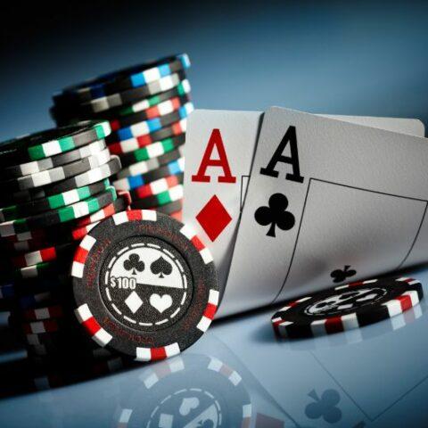 Spielchips und Poker