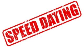 Speed Dating roter Stempeltext