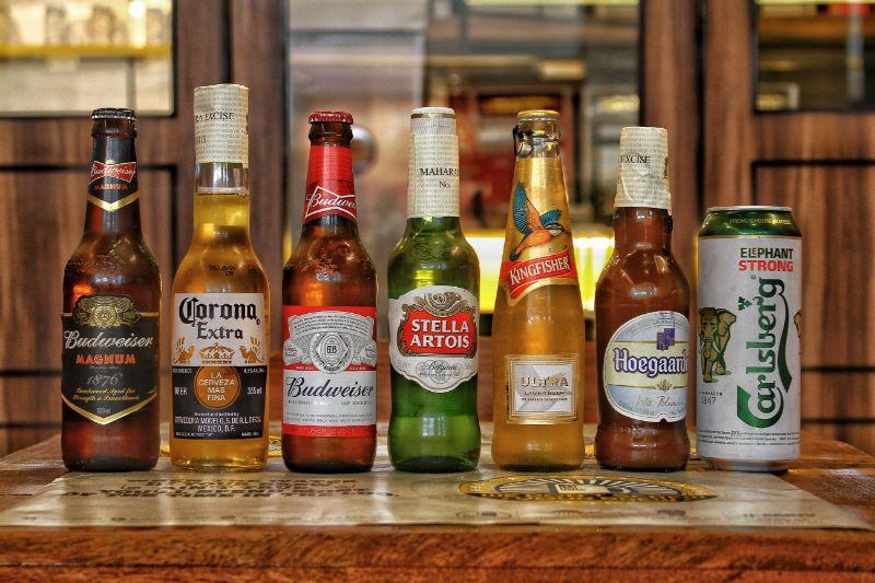 verschiedene bier marken