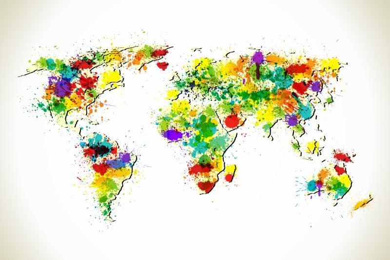Malen-spritzt-Weltkarte
