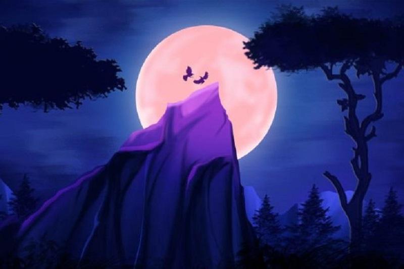 Nacht-Horror-Hintergrund