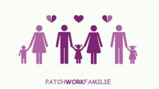 Piktogramm des Patchwork-Familientrennungskonzepts
