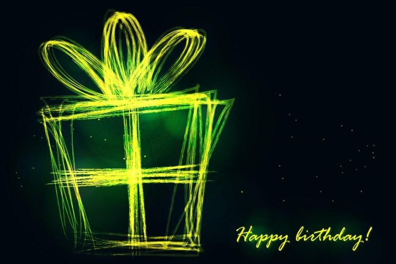 Stilvolle-Geschenkbox-aus-Neonlinie