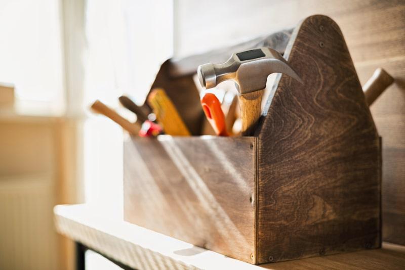 Werkzeugkasten-Holzarbeiten