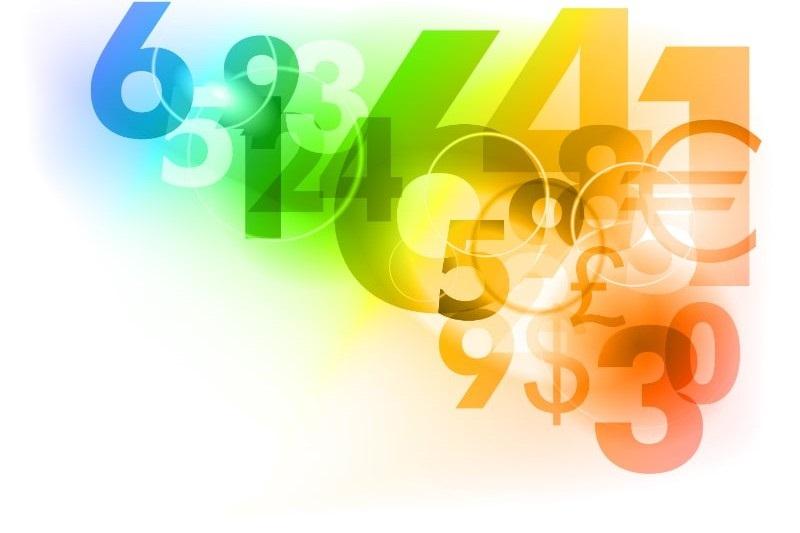 Zahlen-in-verschiedenen-Farben