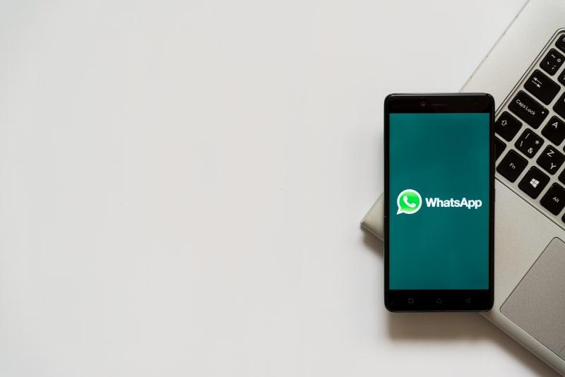 Whatsapp-auf-dem-Smartphone-Bildschirm
