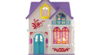 Spielzeughaus auf weißem Hintergrund