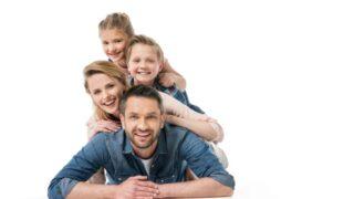 Familie verbringt Zeit zusammen