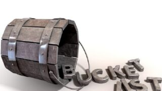 Bucket List Charm und Buchstaben